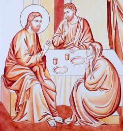 le icone di Bose, betania - sinopia in stile italico