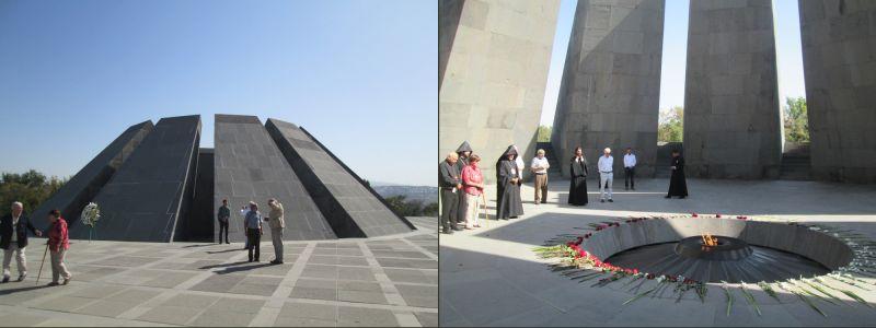 Il memoriale del genocidio armeno / Preghiera presso il memoriale