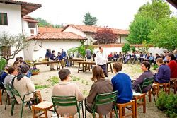 the community during the day of St. Pachomius feast, May 2006