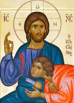 Le icone di Bose - Ascolto - stile bizantino - tempera all'uovo su tavola cm 32x40