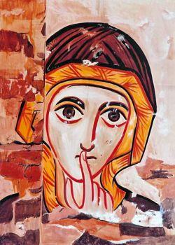 Le icone di Bose - Volto di donna - stile copto - tempera all'uovo su tavola