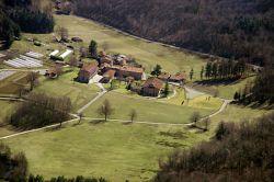 le case della comunità,veduta aerea